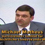 50 Jahre Rheinland-Pfalz. Podiumsdiskussion aus dem Landtag, SWR 1997. Prof. Dr. Michael Matheus, 1. Vorsitzender und Direktor des Instituts für Geschichtliche Landeskunde an der Universität Mainz e. V.