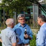Bouleturnier des Historischen Seminars 2014. Wolfgang Dobras, Joachim Schneider und Michael Matheus (v.l.) im Gespräch.