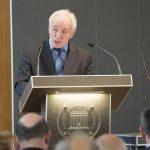 Festakt zur Verabschiedung von Prof. Michael Matheus, 18.10.2018, Prof. Dr. Reiner Anderl, Präsident Akademie der Wissenschaften und der Literatur, Mainz. Foto: Peter Pulkowski.