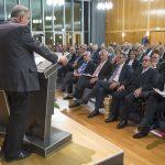 Festakt zur Verabschiedung von Prof. Michael Matheus, 18.10.2018, Prof. Dr. Michael Matheus, Akademie der Wissenschaften und der Literatur, Mainz. Foto: Peter Pulkowski.